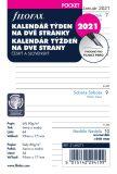 Filofax kalendář 2021 kapesní, týden/2 str, linky, ČJ+SJ - Filofax