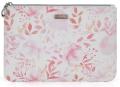Kosmetická taška plochá Pink flowers - Karton P+P