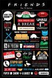 Plakát Friends - Infographic - BKS