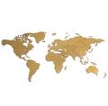 Dřevěná mapa světa MINI hnědá - Giftio