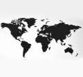 Dřevěná mapa světa MINI černá - Giftio