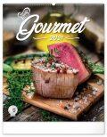 Nástěnný kalendář Gourmet 2021, 48 × 56 cm (defektní) -