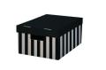 Krabice s víkem 28x37x18 (2ks) černá - HIT OFFICE