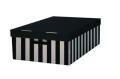 Krabice s víkem 56x37x18 (2ks) černá - HIT OFFICE