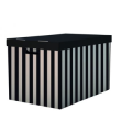 Krabice s víkem 56x37x36 (2ks) černá - HIT OFFICE