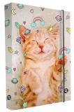 Box na sešity A4 kočka - Karton P+P