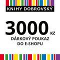 E-shopová dárková poukázka 3000 Kč -