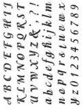 Gelová razítka - Písmenka a čísla psací, velikost 1,5-2cm - SMT Creatoys
