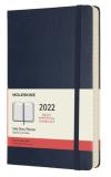 Moleskine Diář 2022 modrý L, denní, tvrdý - Moleskine