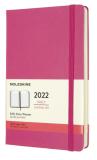 Moleskine Diář 2022 růžový L, denní, tvrdý - Moleskine