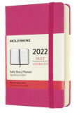Moleskine Diář 2022 růžový S, denní, tvrdý - Moleskine