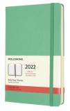 Moleskine Diář 2022 zelený L, denní, tvrdý - Moleskine