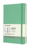Moleskine Plánovací zápisník 2022 zelený L, tvrdý - Moleskine