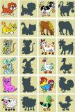 Pexeso Zvířátka a jejich stíny 12ks v krabičce dřevěné - Detoa