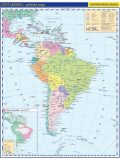 Jižní Amerika - příruční politická mapa,  A3/1: 33 mil. - neuveden