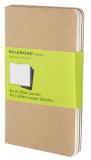 Moleskine - Notesy 3 ks - béžové, čisté S - Moleskine