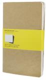 Moleskine - Notesy 3 ks - bežové,čtverečkované L - Moleskine
