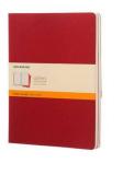 Moleskine - Notesy 3 ks - červené, linkované XL - Moleskine