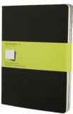 Moleskine - Notes 3 ks - čistý, černý XL - Moleskine