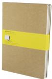 Moleskine - Notes 3 ks - čtverečkovaný, béžový XL - Moleskine