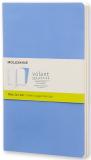 Moleskine - zápisníky Volant 2 ks - čisté, modré L - Moleskine