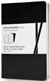 Moleskine - zápisníky Volant 2 ks - linkované, černé S - Moleskine