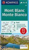 Mont Blanc Monte Bianco 85 NKOM 1:50T - KOMPASS-Karten GmbH
