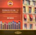 Koh-i-noor křídy (pastely) prašné umělcké 10 mm Toison D´or souprava 24 ks - KOH-I-NOOR HARDTMUTH