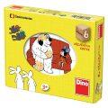 Pohádky - dřevěné kostky 6 kostek - Dino Toys