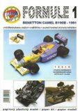 Formule 1: Benetton Camel B190B - 1991/papírový model - Michal Antonický