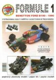 Formule 1: Benetton Ford B190 - 1990/papírový model - Michal Antonický
