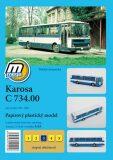 Karosa C 734.00 rok výroby 1981 - 1986/papírový model - Michal Antonický