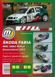 Škoda Fabia WRC ADAC Rallie Deutschland 2003/papírový model - Michal Antonický