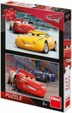 Puzzle Cars 3: Závodníci - 2x77 dílků - Dino Toys