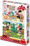 Puzzle Pracovitá Minnie - 2x77 dílků - Dino Toys