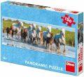 Panoramatické puzzle: Camargští koně 150 dílků - Dino Toys