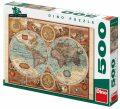 Mapa světa z roku 1626 - 500 puzzle - Dino Toys