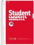 Student blok A4/80 čtv, spirála - KANORG