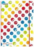 Sešit A5 čtverečkovaný - Smiley World Rainbow - Herlitz