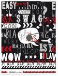 Desky s gumou A4 - Black&Wow Slogan - Herlitz