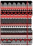 Herlitz zápisník A4 Black&Wow Ethno linkovaný/čtverečkovaný -