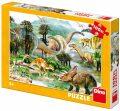 Puzzle Život dinosaurů - 100XL dílků - Dino Toys