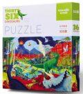 Puzzle Dinosauři 300 dílků - Crocodile Creek