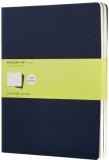 Moleskine - sešity - 3ks čisté, modré XL - Moleskine