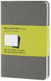 Moleskine - sešity - 3ks čisté, světle, šedé S - Moleskine