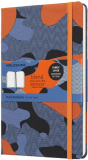 Moleskine: Blend zápisník linkovaný Camouflage oranžový L - Moleskine