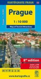 Prague - Map of Tourist Attractions 1:10 tis. - Kartografie PRAHA