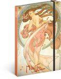 Notes Alfons Mucha – Tanec, linkovaný, 13 × 21 cm - Presco Group