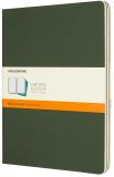 Moleskine - sešity 3 ks - linkované, zelené XL - Moleskine