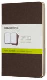 Moleskine - sešity 3 ks čisté, hnědé S - Moleskine